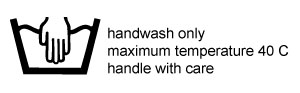 Hand wash only Tall Amy Bags at maximum temperature of 40c